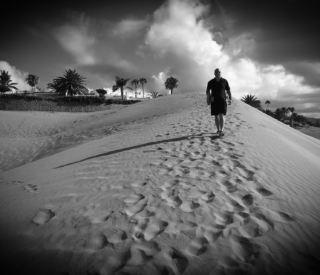 Man on a walk